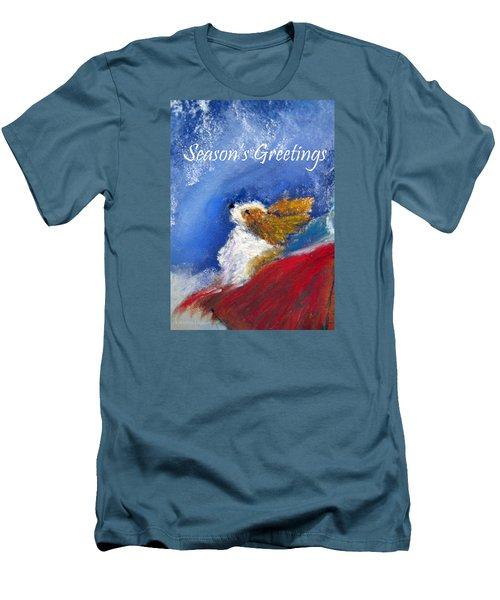 Moonstruck Holiday Card Men's T-Shirt (Slim Fit) by Loretta Luglio