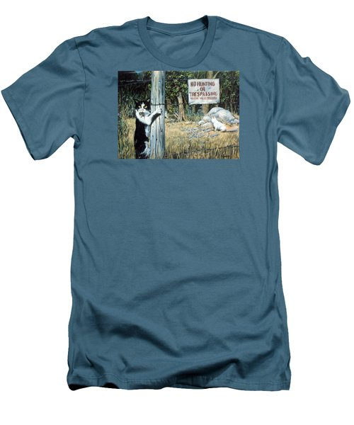 Men's T-Shirt (Slim Fit) featuring the painting More Civil Disobedience by Donna Tucker