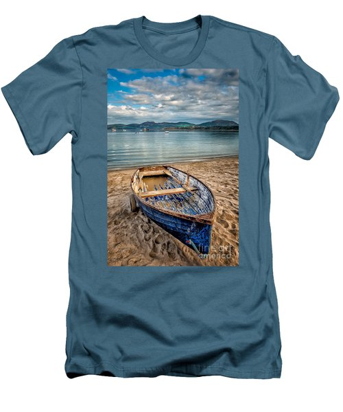 Morfa Nefyn Boat Men's T-Shirt (Slim Fit) by Adrian Evans