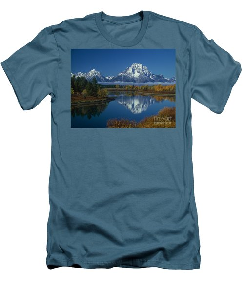 Morning Cloud Layer Oxbow Bend In Fall Grand Tetons National Park Wyoming Men's T-Shirt (Athletic Fit)