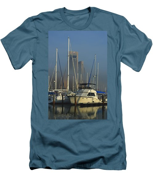 Morning Fog Ll Men's T-Shirt (Slim Fit) by Leticia Latocki