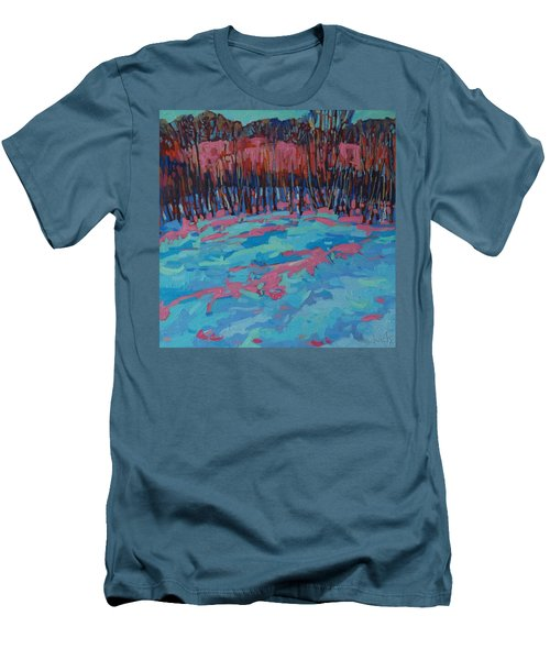 Morning Forest Men's T-Shirt (Slim Fit) by Phil Chadwick