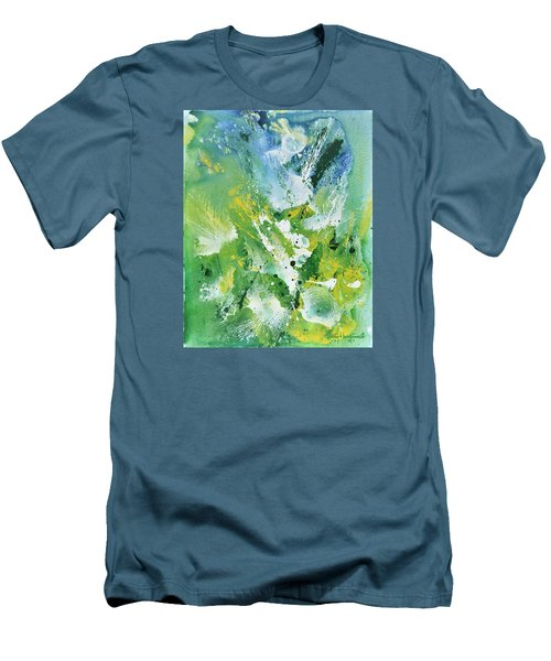 Men's T-Shirt (Slim Fit) featuring the painting Morning Hillside by Craig T Burgwardt