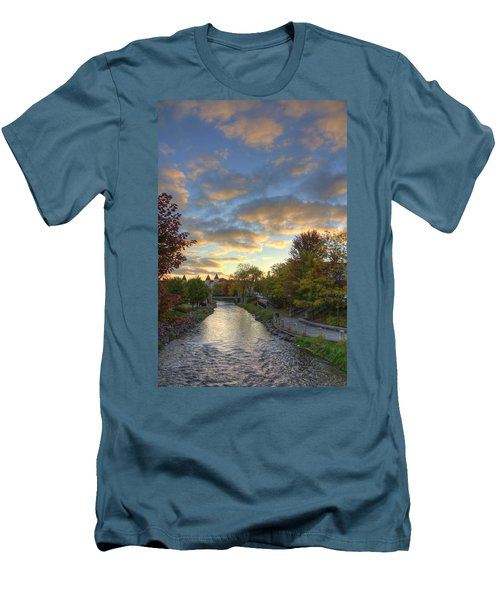 Morning Sky On The Fox River Men's T-Shirt (Athletic Fit)