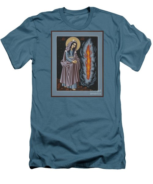 Men's T-Shirt (Slim Fit) featuring the painting Mother Of God Of Kosovo 087 by William Hart McNichols