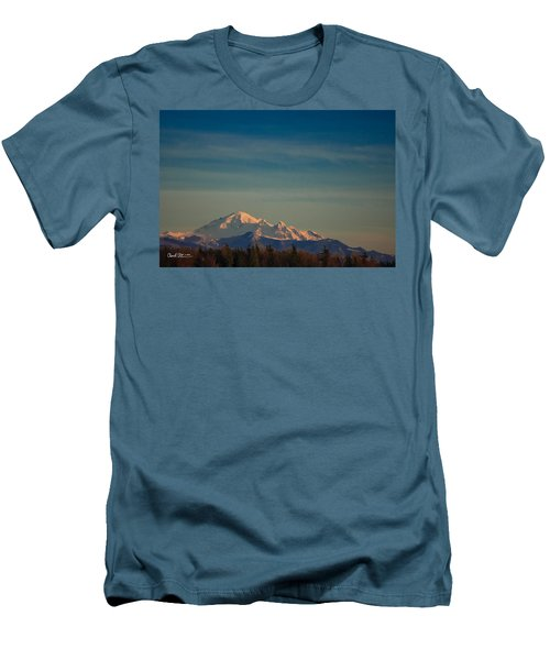 Mount Baker Sunset Men's T-Shirt (Athletic Fit)