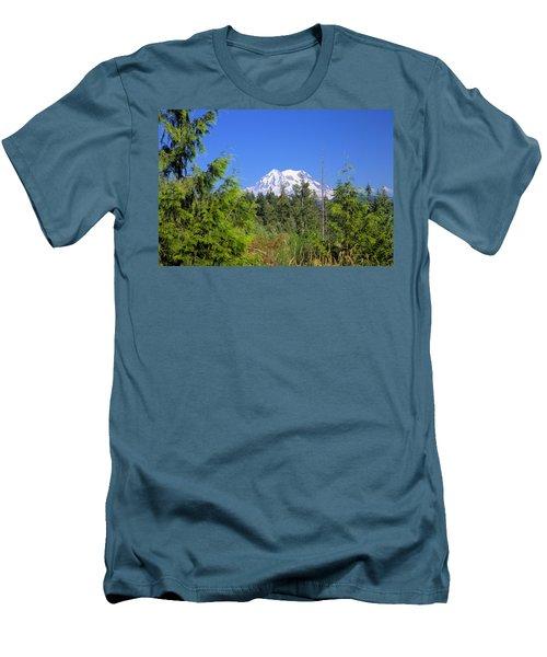 Men's T-Shirt (Slim Fit) featuring the photograph Mount Rainier by Gordon Elwell