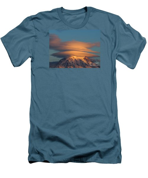 Mount Rainier In November  Men's T-Shirt (Athletic Fit)
