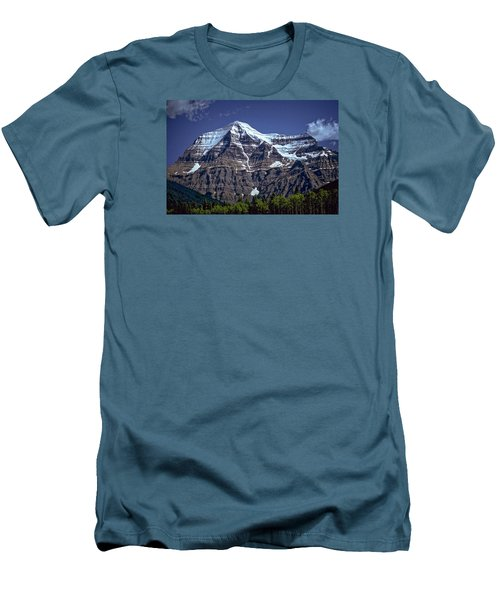 Men's T-Shirt (Slim Fit) featuring the photograph Mount Robson by Richard Farrington