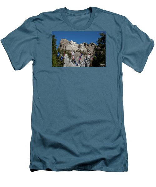 Mount Rushmore Avenue Of Flags Men's T-Shirt (Athletic Fit)