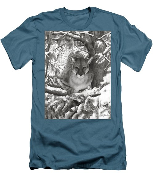 Mountain Lion Hideout Men's T-Shirt (Slim Fit)