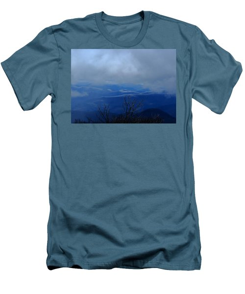 Mountains And Ice Men's T-Shirt (Athletic Fit)