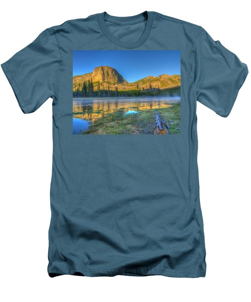 Mt. Hayes Alpine Glow Yellowstone National Park Men's T-Shirt (Athletic Fit)