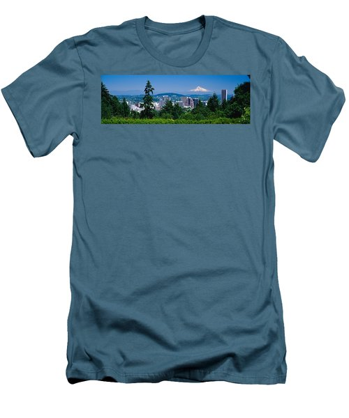 Mt Hood Portland Oregon Usa Men's T-Shirt (Athletic Fit)