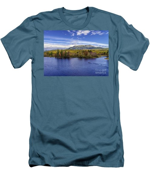 Mt Katahdin Hdr Men's T-Shirt (Athletic Fit)