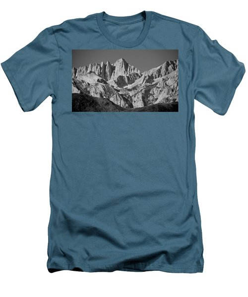 Mt. Whitney In Black And White Men's T-Shirt (Slim Fit) by Eric Tressler