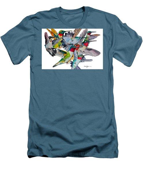 Da053 Multi-hummers By Daniel Adams Men's T-Shirt (Athletic Fit)
