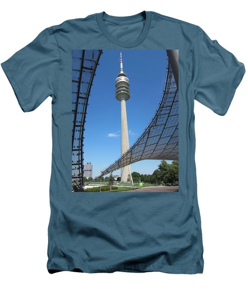 Men's T-Shirt (Slim Fit) featuring the photograph Munich Olympic Tower by Pema Hou