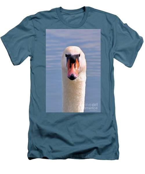 Men's T-Shirt (Slim Fit) featuring the photograph Mute Swan Staring by Susan Wiedmann