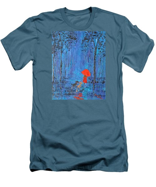 My Journey  Men's T-Shirt (Slim Fit) by Patricia Olson