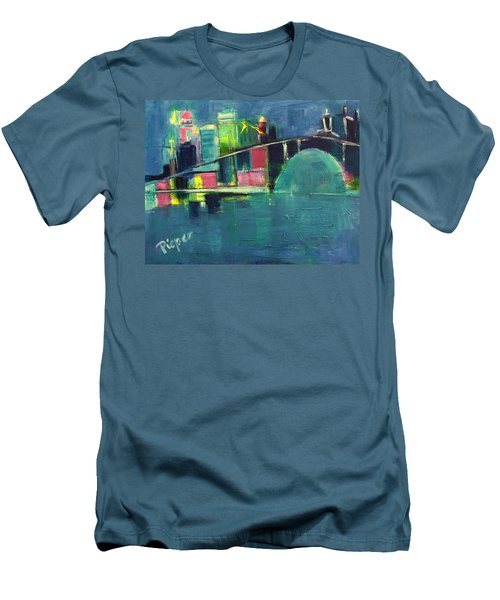 My Kind Of City Men's T-Shirt (Slim Fit) by Betty Pieper