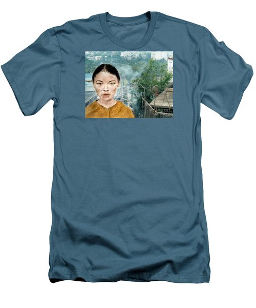 My Kuiama A Young Vietnamese Girl Version II Men's T-Shirt (Slim Fit) by Jim Fitzpatrick