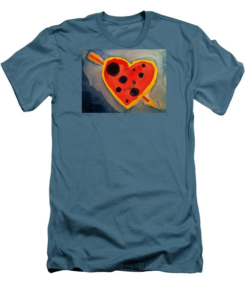 Men's T-Shirt (Slim Fit) featuring the painting Imperfect Love by Rand Swift