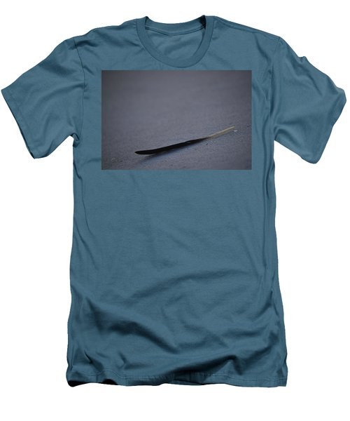 Navarre Beach Solo Bird Feather Men's T-Shirt (Slim Fit) by Jeff at JSJ Photography