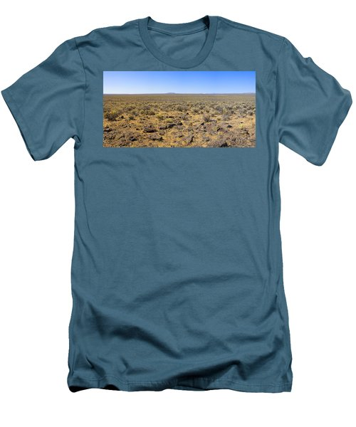 Men's T-Shirt (Slim Fit) featuring the photograph Nevada Desert Panorama by Mark Greenberg