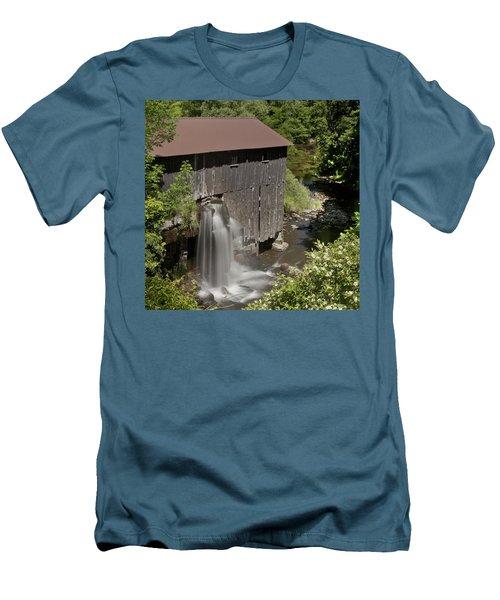 New Hope Mills  Men's T-Shirt (Slim Fit) by Richard Engelbrecht
