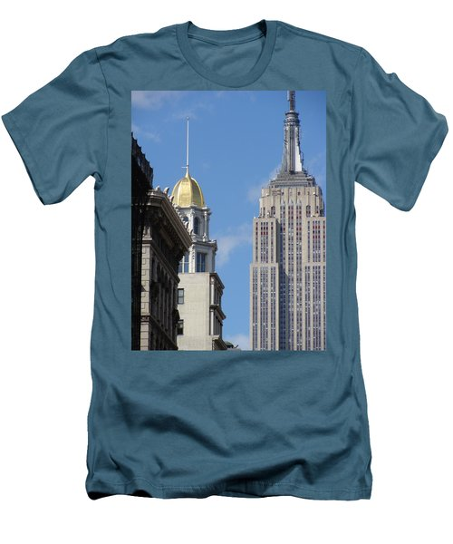 Men's T-Shirt (Slim Fit) featuring the photograph New York New York by Ira Shander