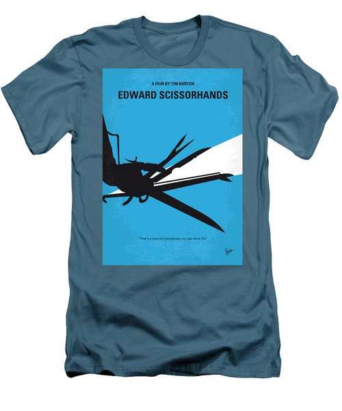 No260 My Scissorhands Minimal Movie Poster Men's T-Shirt (Slim Fit) by Chungkong Art