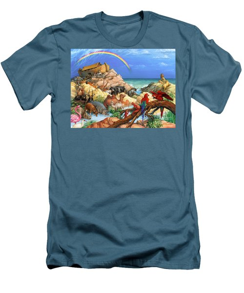 Noah And The Ark Men's T-Shirt (Athletic Fit)