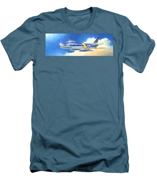 North American F-86f Sabre Men's T-Shirt (Athletic Fit)