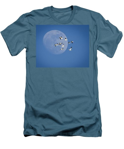 Men's T-Shirt (Slim Fit) featuring the photograph North Bound by Jack Bell