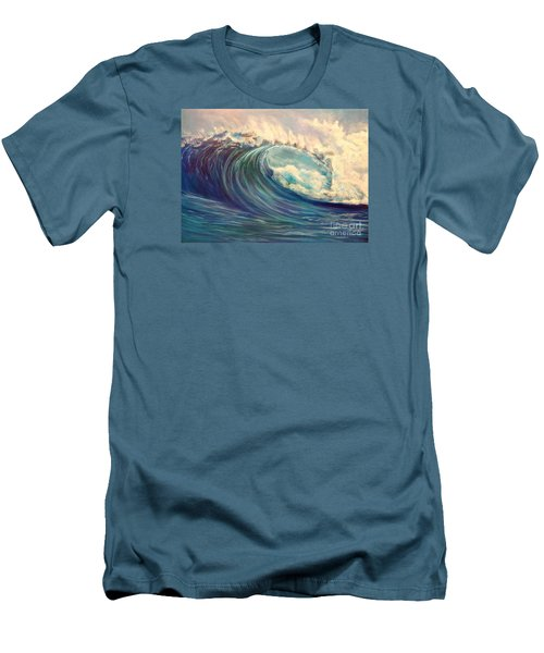 Men's T-Shirt (Slim Fit) featuring the painting North Whore Wave by Jenny Lee