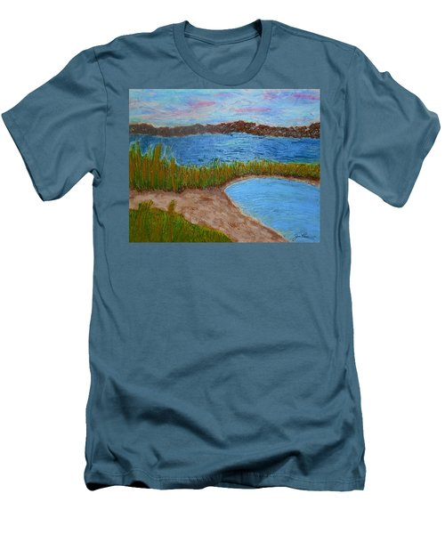 Men's T-Shirt (Athletic Fit) featuring the painting North Wildwood   New Jersey by Joan Reese