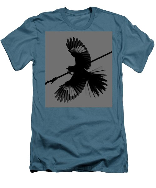 Men's T-Shirt (Slim Fit) featuring the photograph Northern Mockingbird by Leticia Latocki