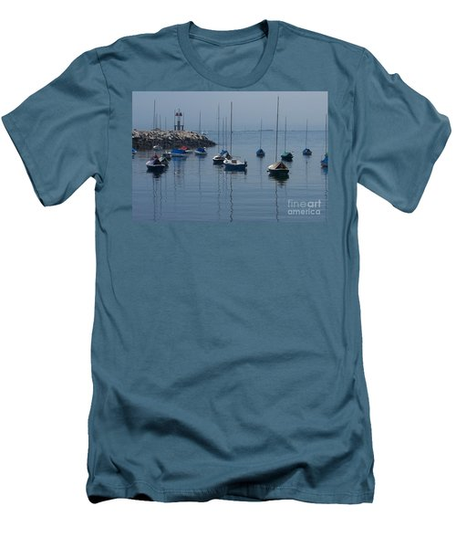 Men's T-Shirt (Slim Fit) featuring the photograph Sail Boats  by Eunice Miller
