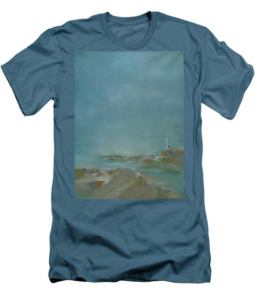 Nova Scotia Fog Men's T-Shirt (Slim Fit) by Judith Rhue