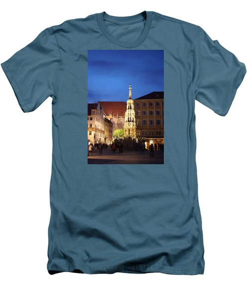 Nuernberg At Night Men's T-Shirt (Athletic Fit)