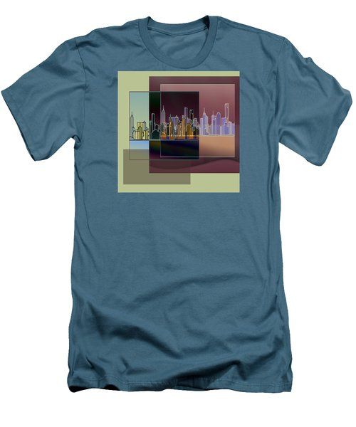 Nyc Abstract-3 Men's T-Shirt (Slim Fit) by Nina Bradica