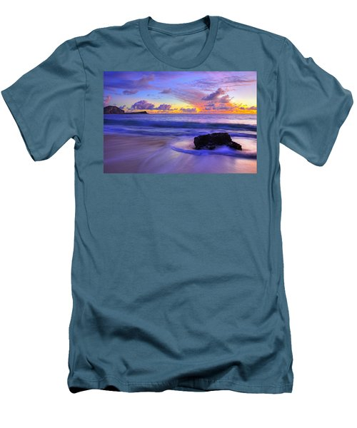 Oahu Sunrise Men's T-Shirt (Slim Fit) by Dustin  LeFevre