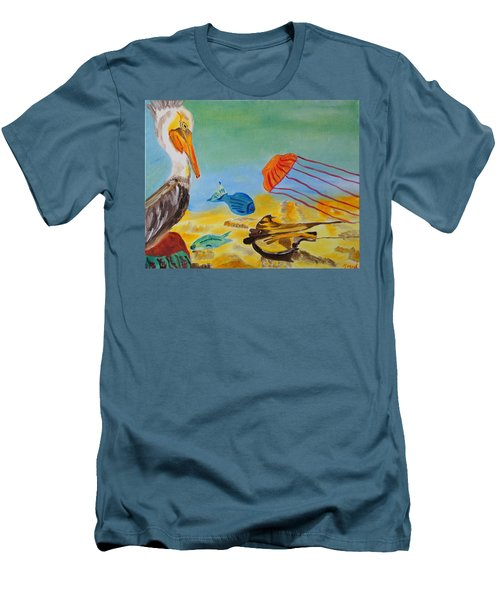Men's T-Shirt (Slim Fit) featuring the painting Observing Options by Meryl Goudey
