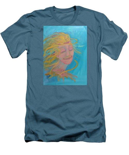 Ocean Breeze Men's T-Shirt (Slim Fit) by Terri Einer