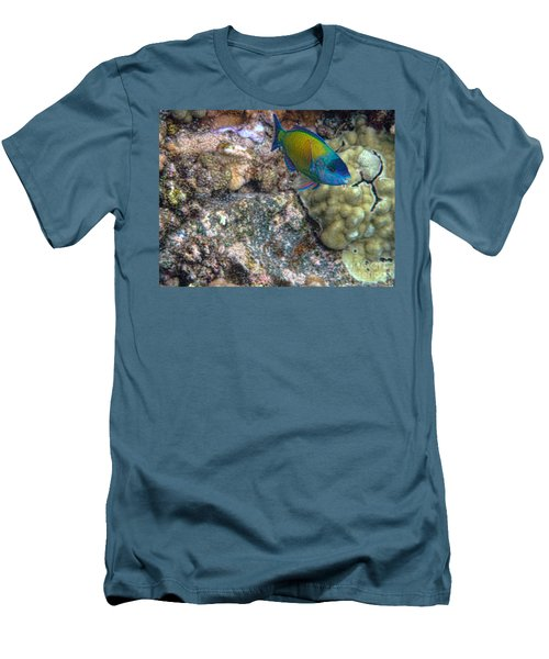 Men's T-Shirt (Slim Fit) featuring the photograph Ocean Color by Peggy Hughes