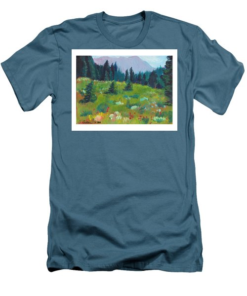 Off The Trail Men's T-Shirt (Slim Fit) by C Sitton