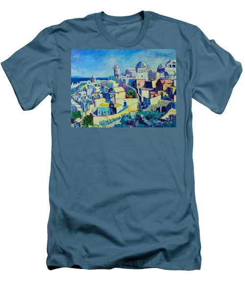 Men's T-Shirt (Slim Fit) featuring the painting OIA by Ana Maria Edulescu
