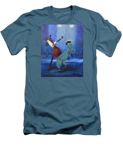 Oil Msc 017  Men's T-Shirt (Slim Fit) by Mario Sergio Calzi