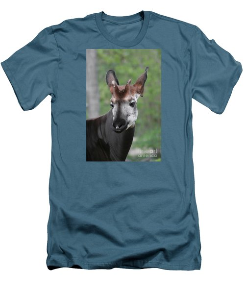 Men's T-Shirt (Slim Fit) featuring the photograph Okapi #2 by Judy Whitton